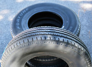 2 New Fortune St01 St 205 75r15 Load D 8 Ply Trailer Tires