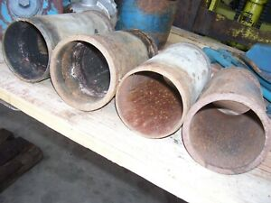 Vintage Fordson Major Diesel Tractor 4 Engine Sleeves 3 7 8 Id 1954