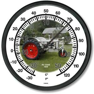 New 1935 Rc Case Tractor Wall Thermometer 10 Round Years 1935