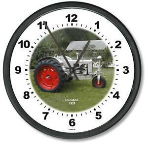 New 1935 Rc Case Tractor Wall Clock 10 Round Years 1935
