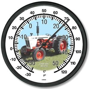 New Rc Case Model 885 Tractor Wall Thermometer 10 Round Years 1974 1975