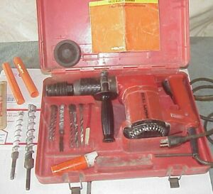 Hilti Te 22 Rotary Hammer Drill In Original Case W 8 Bits Up To 1 Carbide Tip