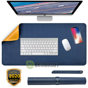 Double side Large Mouse Pad Gamer Waterproof Pu Leather Keyboard Suede Desk Mat