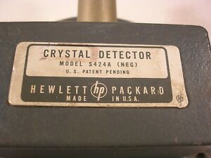 Hp Waveguide Crystal Detector Wr287 To Bnc Female