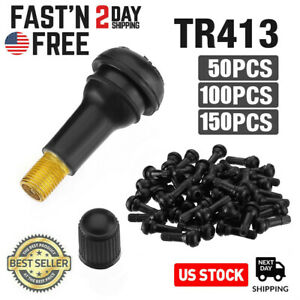 50 200pcs Car Auto Tr 413 Short Rubber Tubeless Snap In Tyre Tire Valve Stems Us