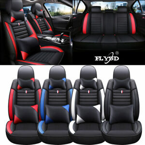 Deluxe 5 sits Suv Car Seat Covers Auto Truck Pu Leather Front Rear Cushion Set