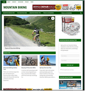 Mountain Biking Cycling Business Website For Sale Money Making Online Affiliate