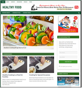 Food Cooking Recipe Full Business Website For Sale Money Making Online Affiliate