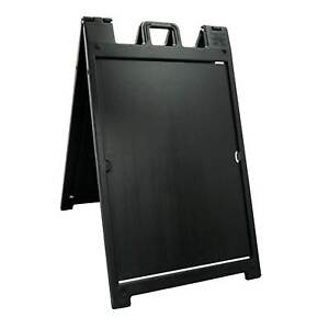 Plasticade Deluxe Signicade Folding Double Sided Sign Stand Black open Box