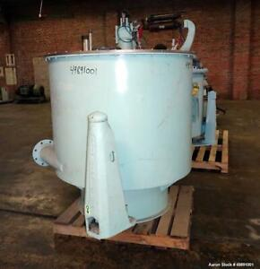 Used Sharples 48 X 30 Perforated Basket Centrifuge Stainless Steel Maximum