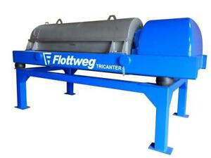 Used Flottweg Z53 4 464 Solid Bowl Tricanter Centrifuge 316 Stainless Steel Co