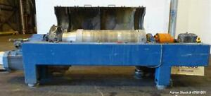 Used Alfa Laval Dsnx 4850 Solid Bowl Decanter Centrifuge 2205 Stainless Steel