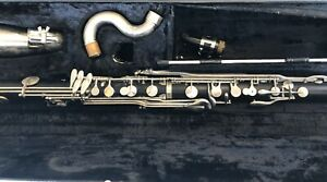 Vito Reso-tone Bass Clarinet with case. Wide Bore.  Eb On Body. Plays As It Sits