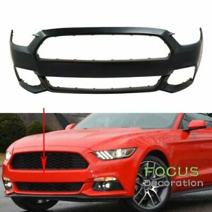 New Front Bumper Cover Primed For 2015 2017 Ford Mustang Except Shelby Model