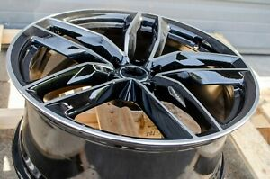 19x8 5 5x112 33 Audi Rs Style Black Machined Face Wheels Rims Set Of 4