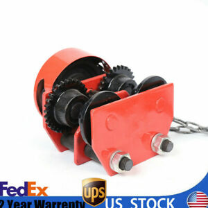 Hoist Winch Crane Lift 1 Ton Push I Beam Gear Trolley Chain Beams Monorail Car