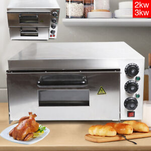 Commercial Electric Pizza Baking Oven 1 Deck Stainless Steel Pizza Maker 2000w