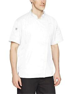 Chef Works Men s Springfield Chef Coat White Large White Size Large T3sk