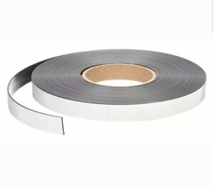 50ft X 3 4 Self Adhesive Magnetic Strip Indoor outdoor Adhesive 9lb Max Pull