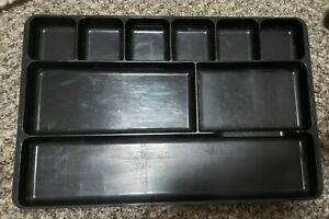 Rogers Black Plastic 9 Compartment Desk Drawer Organizer Tray Jewelry 3 Avail