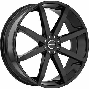 4 18x8 Black Akuza Zenith Wheel 5x110 5x115 35 Offset 843880043 35gb