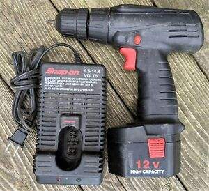 Snap On 12v Cordless Drill Ctb312 W Charger Ctc300 Battery Needs Rebuilt