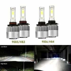 Combo 9005 9006 Led Headlight Bulb For Toyota Corolla 2001 2013 High Low Beam