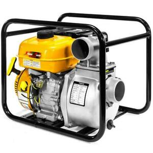 Water Transfer Pump 7 Hp 3 Portable Gas powered Semi trash Automatic Shut Off