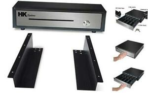 16 Heavy Duty Black push Open Cash Drawer 5b5c With Under Counter Mounting M