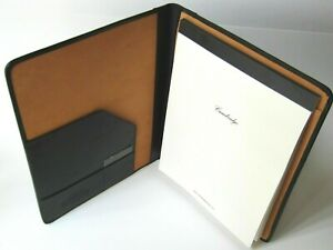 Cambridge Leather Black Senior Portfolio Included Cambridge 40 Sheets Legal Pad