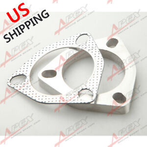 Us Ship 3 Inch Id Stainless Steel 3 Bolt Exhaust Header Flange Exhaust Gasket