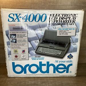 Brother Sx 4000 Electronic Lcd Display Typewriter New Open Box Vintage Keyboard