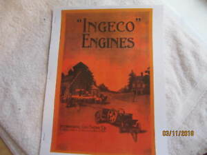 1915 ingeco International Gas Engine Catalog All Sizes Hit Miss Mags Pumps