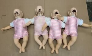 Lot 4 Laerdal Resusci Baby Anne Infant Nursing First Aid Training Cpr Manikins