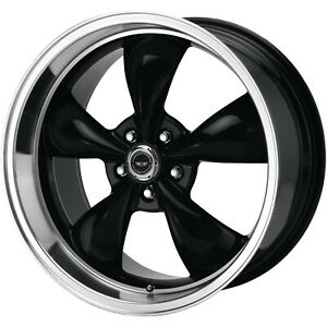 4 16x7 Black Wheel American Racing Torq Thrust M 5x4 5 35