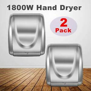 2pcs Hand Dryer Electric Automatic Hot Air Hand Blower 1800w For Home Commercial