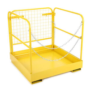 749 Lbs Capacity Forklift Safety Cage Steel Work Platform Heavy Duty 36x36