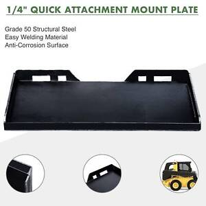 Quick Attachment Mount Plate 1 4 For Kubota Bobcat Skidsteer Trailer Adapter