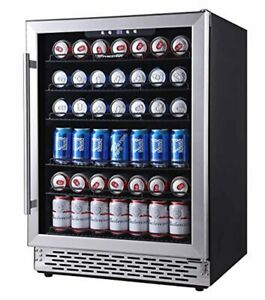 Phiestina 24 Inch Beverage Cooler Refrigerator 175 Can Built in Or Free Standi