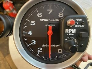 Autometer Sport Comp 3905 Monster Tach With Shift Light And Mount