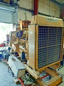 Caterpillar Diesel Engine 3406 Powered Generator 300kw Used 400 Hours