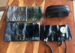Vtg Tycos Classic Adult Aneriod Sphygmomanometer Blood Pressure W 2 Cuffs Case