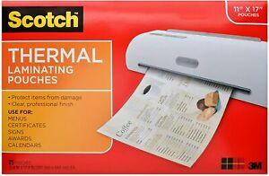 Laminating Pouches Thermal 3mil F 11 x17 25 pk Cl