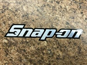 tool Box Decal Snap on Decal Brushed Chrome W black Outline