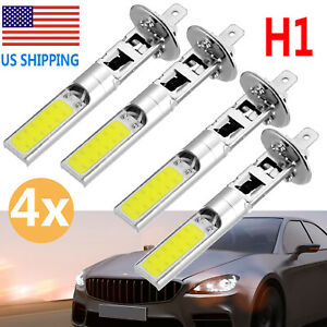 4x H1 Led Headlight Hi Low Beam Fog Lights Smd Cree 6000k White Vehicle Bulbs