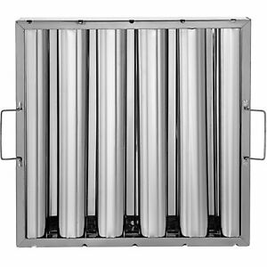 6 Pack 16 x16 Stainless Steel Hood Grease Exhaust Filter Baffle 5 Slots
