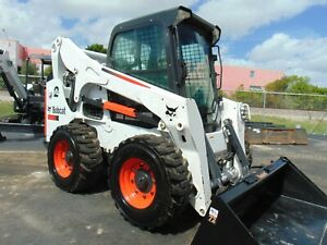 2015 Bobcat S 770 Turbo 2 Speed high Flow ice Cold A c Stereo Big 95 Hp