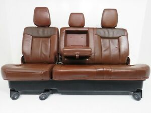 Ford Super Duty King Ranch Leather Rear Bench Seat 2011 2012 2013 2014 2015 2016