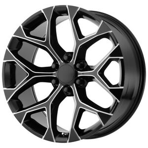 4 replica 176 Gm Snowflake 26x10 6x5 5 31mm Black milled Wheels Rims 26 Inch