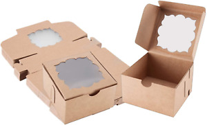 50 Pack Bakery Boxes With Window Pastry Boxes Dessert Boxes Treat Boxes Cookie B